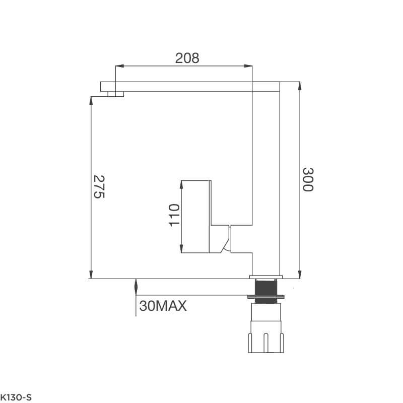 Vòi Rửa Chén NL Inox 304 Malloca K130-S 5