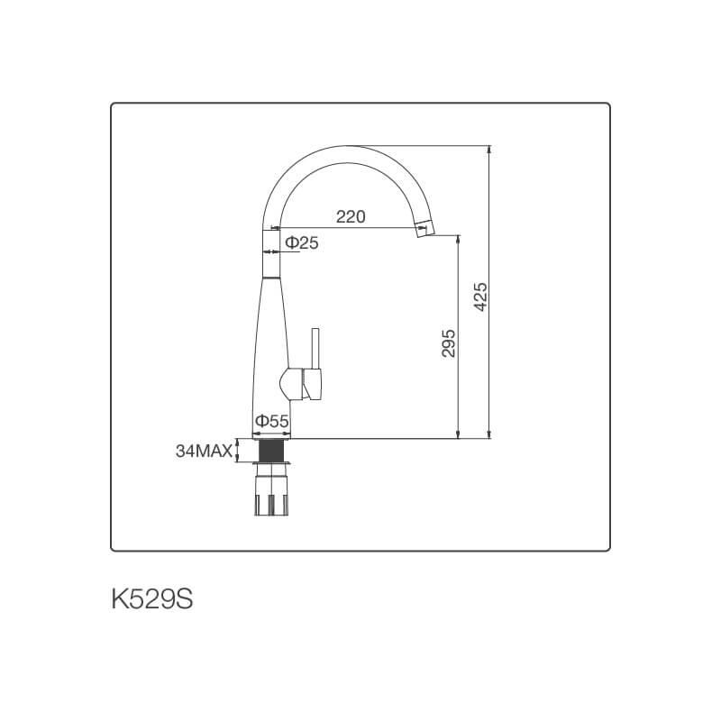 Vòi Rửa Chén NL Inox 304 Malloca K529-S 5