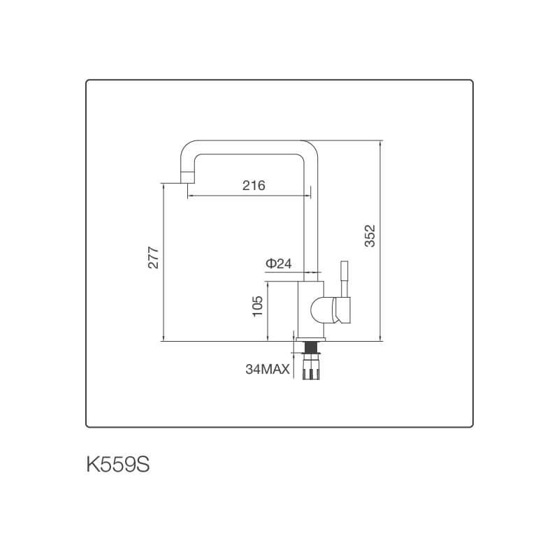 Vòi Rửa Chén NL Inox 304 Malloca K559-S 5