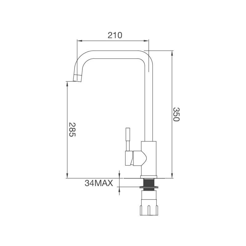 Vòi Rửa Chén NL Inox 304 Malloca K559-SN 5