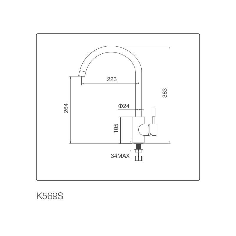 Vòi Rửa Chén NL Inox 304 Malloca K569-S 5