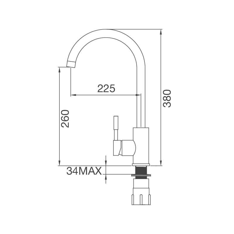Vòi Rửa Chén NL Inox 304 Malloca K569-SN 6