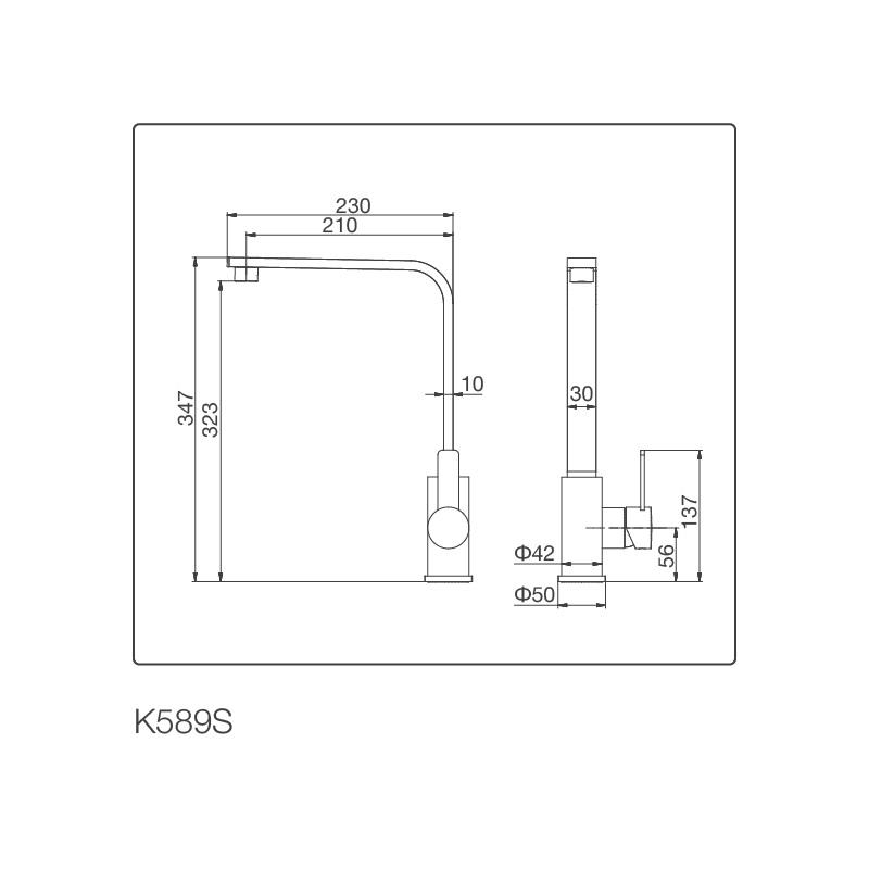 Vòi Rửa Chén NL Inox 304 Malloca K589-S 5