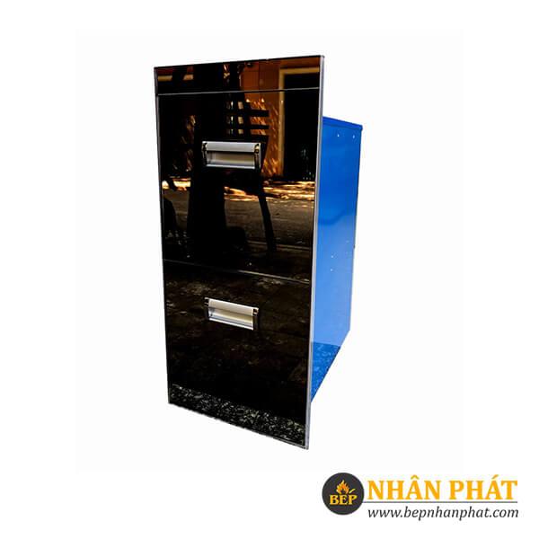 Thùng gạo 2 ngăn kéo mặt gương Grob RB2-300B/RB2-300W 5