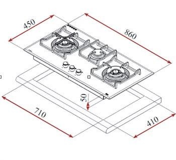 Bếp gas 3 vùng nấu Teka GVI 78 3G AI AL 2TR 4