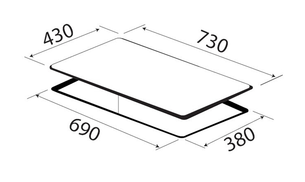 Bếp 2 từ KAFF KF-LCD2IG 5