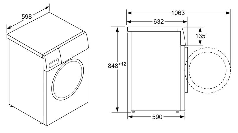 Máy Giặt Cửa Trước Bosch HMH.WAW28790HK Serie 8 5