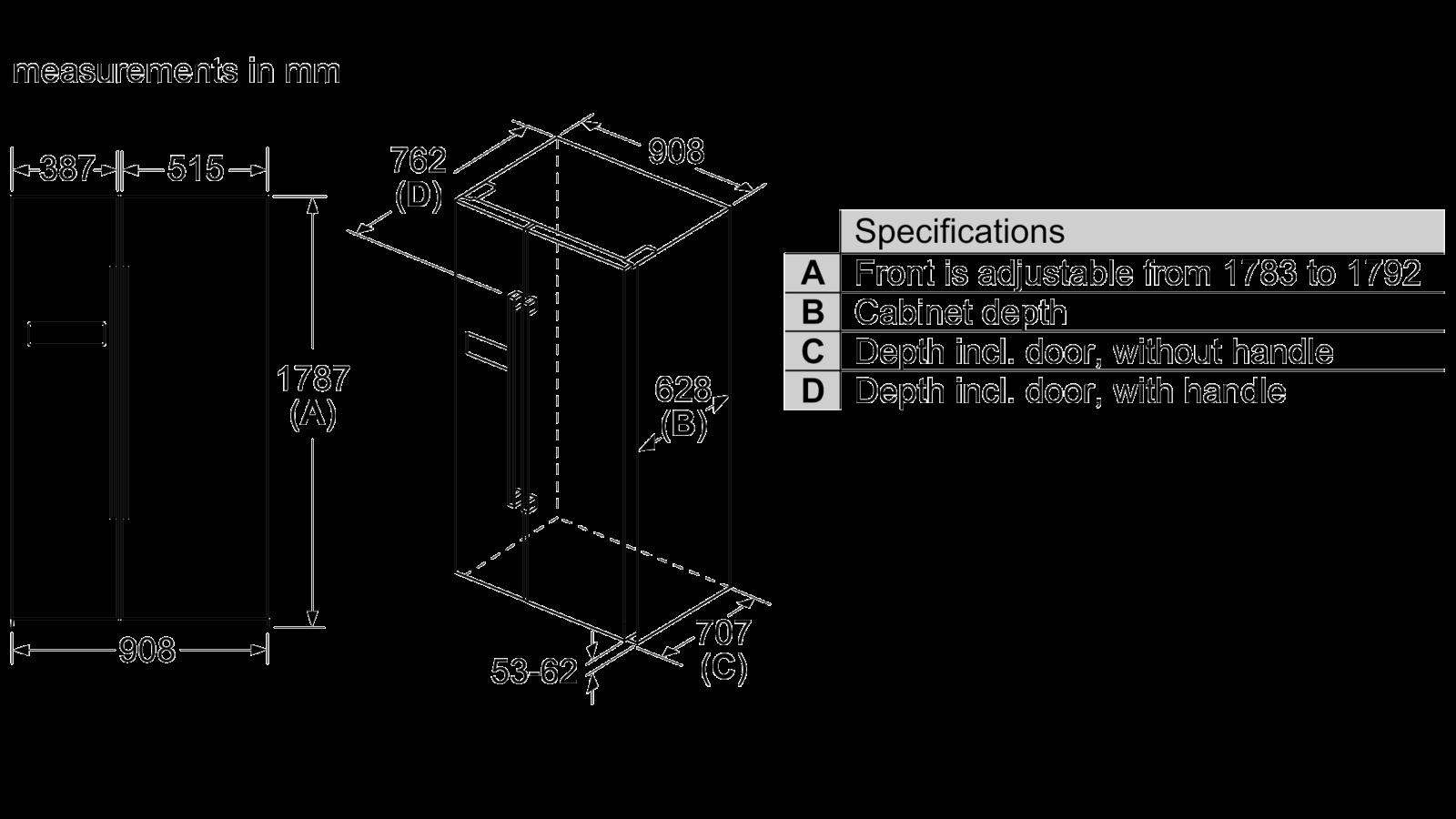Tủ Lạnh 2 Cánh SIDE BY SIDE BOSCH HMH.KAN93VIFPG Series 4 5