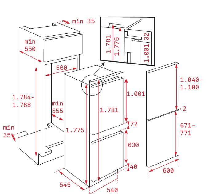 Tủ Lạnh Lắp Âm Không Đóng Tuyết Teka CI3 350 NF 5