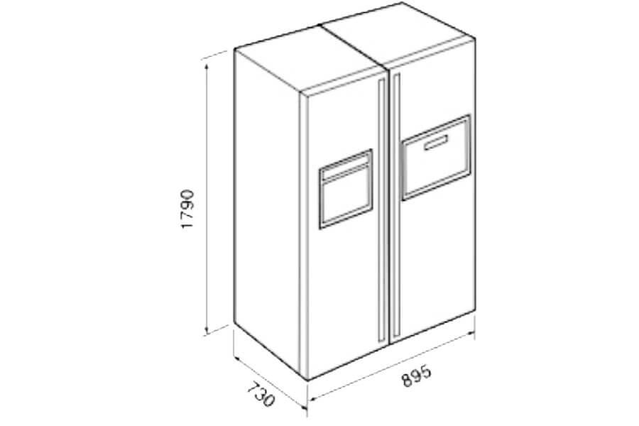 Tủ Lạnh Side by Side Không Đóng Tuyết Teka NFD 680 BLACK 5