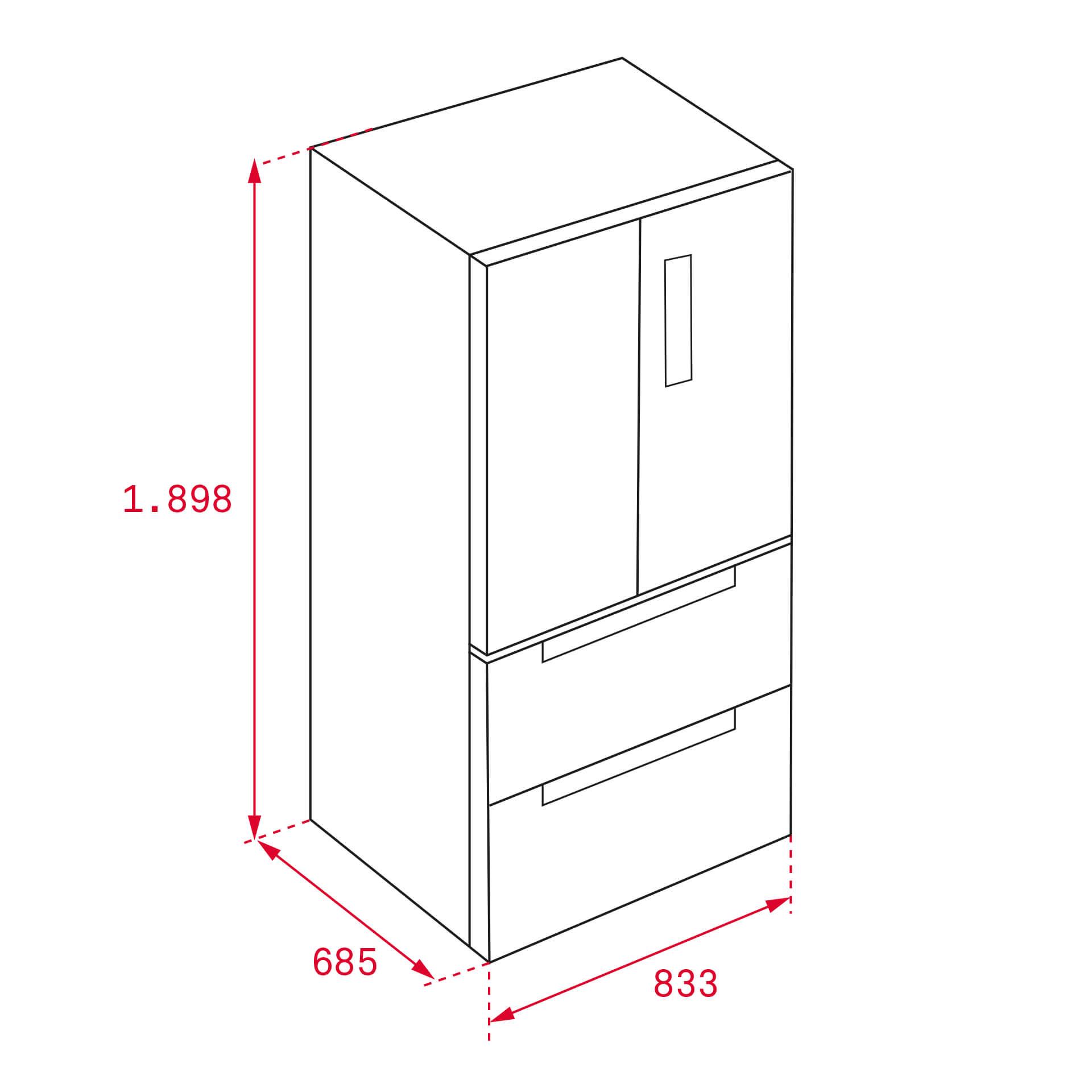 Tủ Lạnh Side By Side Không Đóng Tuyết Teka RFD 77820 GBK 5